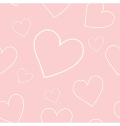 Lovely pink background with hearts vector image vector image