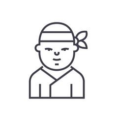 ninjajapanese line icon sign vector image