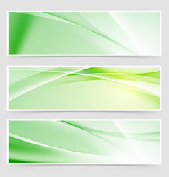 bright ecological web header collection vector image vector image