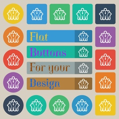 business team icon sign Set of twenty colored flat vector image