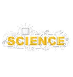 Design concept of word science website banner vector