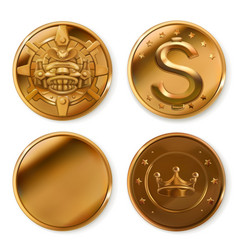 golden coins 3d icon set vector image vector image