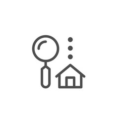 house search line icon vector image vector image