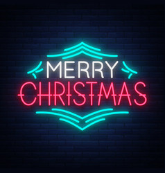 merry christmas text template design letter vector image