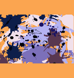 purple lilac orange brown ink splashes background vector image