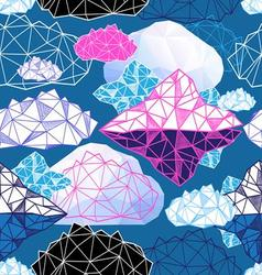 Seamless graphic pattern with abstract geometric vector image