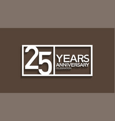 25 years anniversary logotype with white color vector