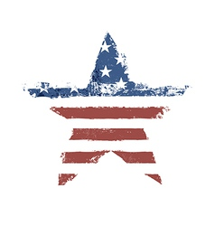 american flag star shape vector image