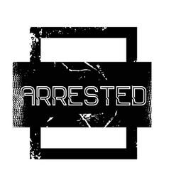Arrested advertising sticker vector