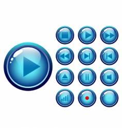 audio-video media controller vector image