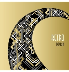 Background with golden white black art deco vector