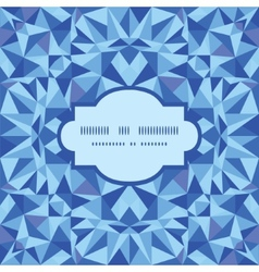 Blue triangle texture frame seamless pattern vector