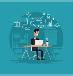 businessman working flat vector image