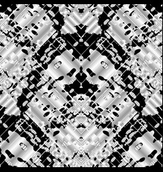 Camouflage style seamless pattern black vector