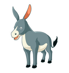 cartoon smiling donkey vector image