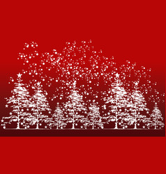 cedar tree background vector image