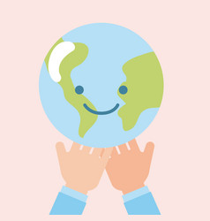 children world hands vector image