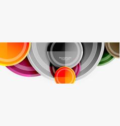 circular pattern abstract circles composition vector image