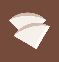Coffee filter coffee related flat style icon vector