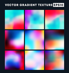 colorful gradient texture pattern set for the vector image