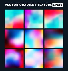 colorful gradient texture pattern set vector image