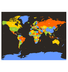 countries of the world colorful map vector image