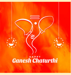 Creative lord ganesh chaturthi festival event vector