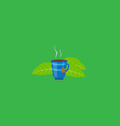 cup of tea with tea leaves vector image
