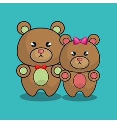 Cute bear stuffed icon vector