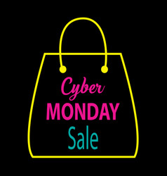 cyber monday discount sale concept vector image