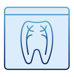 dental xray flat icon tooth xray blue icons in vector image
