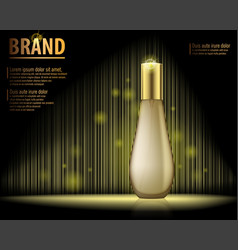 Design cosmetics product advertising on dark vector