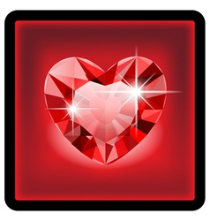 Diamond heart vector