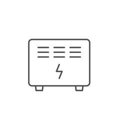 Electric con line outline icon vector