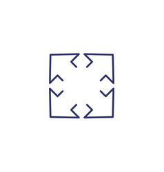 Expand icon on white line vector