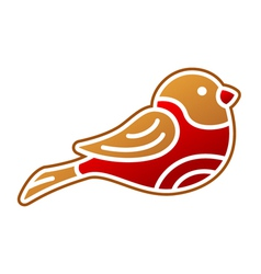 Gingerbread Bullfinch vector image
