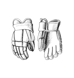 Hockey gloves vector image vector image