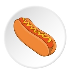 Hot dog icon isometric style vector image