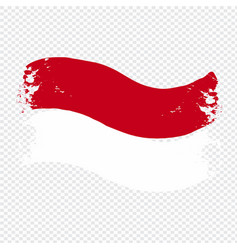 Indonesia flag transparent watercolor painted vector