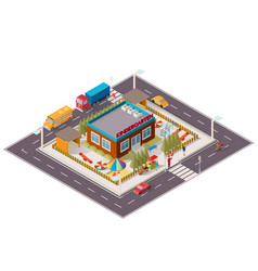 Isometric of kindergarten vector
