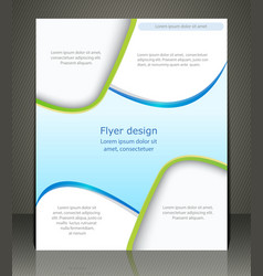 layout shop or salon flyer magazine cover or vector image