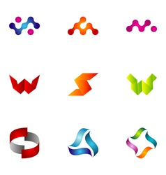 Logo design elements set 44 vector