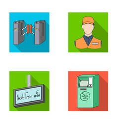 mechanismelectric transport and other web icon vector image