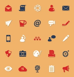 Message and email classic color icons with shadow vector image