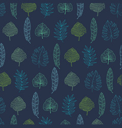 navy blue geometrical tropical summer vector image