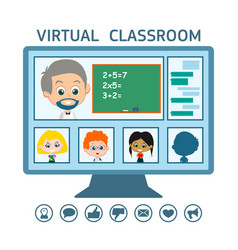 online education from home vector image