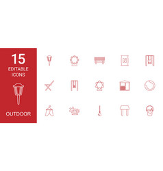 outdoor icons vector image