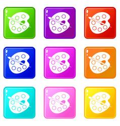 Palette icons 9 set vector