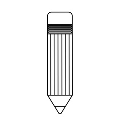 pencil silhouette isolated icon vector image