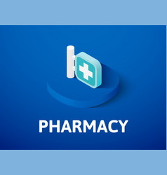 pharmacy isometric icon isolated on color vector image